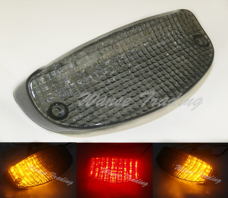 Tail Brake Turn Signals Integrated Led Light Smoke For HONDA Shadow Spirit VT1100 VLX VT600 Blackbird CBR1100XX CBR 1100XX CB600 aftermarket free shipping motorcycle parts led tail brake light turn signals for honda 2000 2001 2002 2006 rc51 rvt1000r smoke