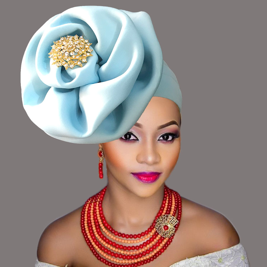 auto gele cap for women party african headtie nigeria turban headband already tied african head wraps (11)