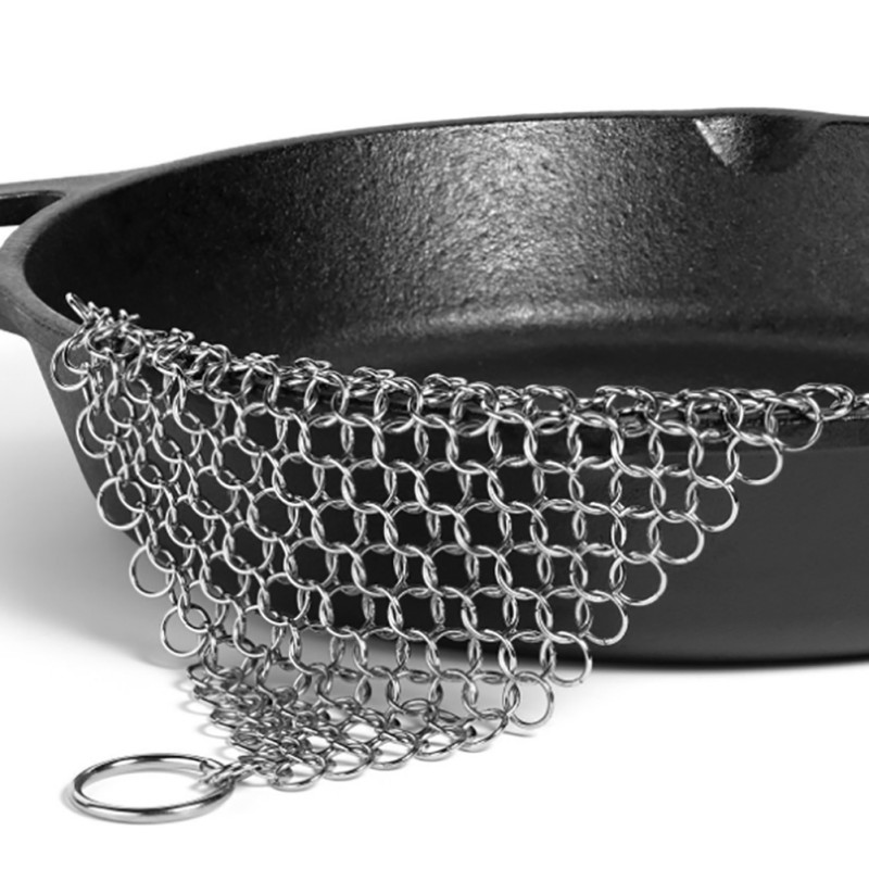 Finger Iron Cleaner Stainless Steel Scrubber Chain mail Palm Brush Kitchen Gadgets Wash Tool Pan Dish Bowl