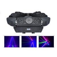 Aucd 3x3 Средства ухода для век RGB перемещение головы паук лазерный луч света DMX подчиненная этап Освещение для DJ party Club Show DJ 109