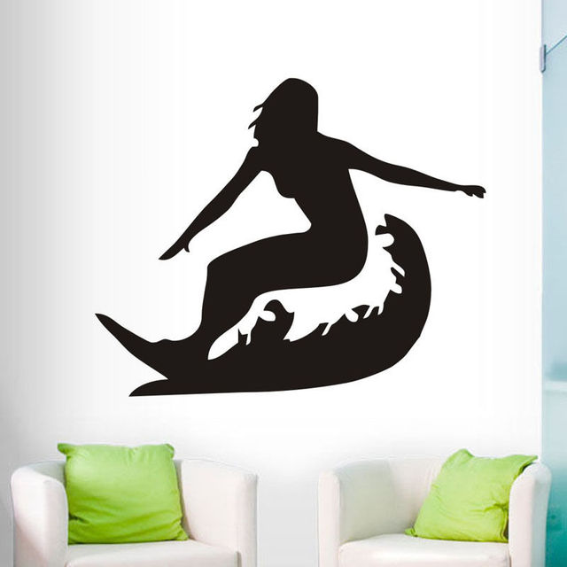 Surfing Vinyl Wall Decals Sports Silhouette Home Decor Living Room Bedroom Removable Art Sticker Mural House  sc 1 st  AliExpress.com & Surfing Vinyl Wall Decals Sports Silhouette Home Decor Living Room ...
