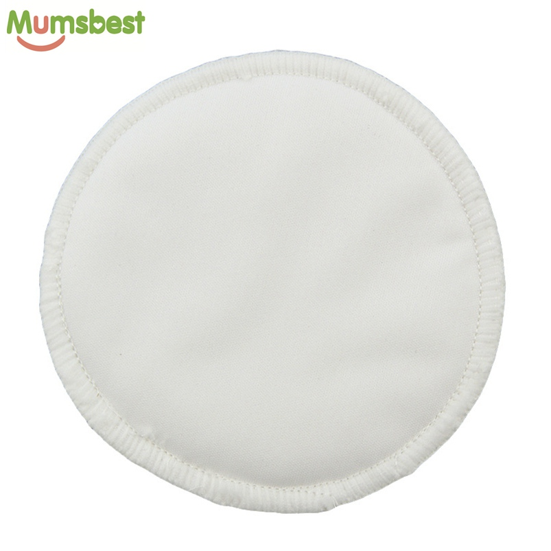 [Mumsbest] 200Pcs Bamboo Breast Pad Nursing Pads For Mum Reusable Waterproof Minky 3 Layers Breast Nursing Feeding Pad Wholesale