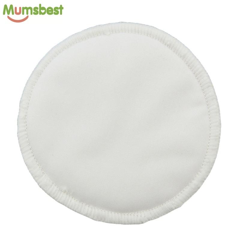 [Mumsbest] 200Pcs Bamboo Breast Pad Nursing Pads For Mum Reusable Waterproof Minky 3 Layers Breast Nursing Feeding Pad Wholesale