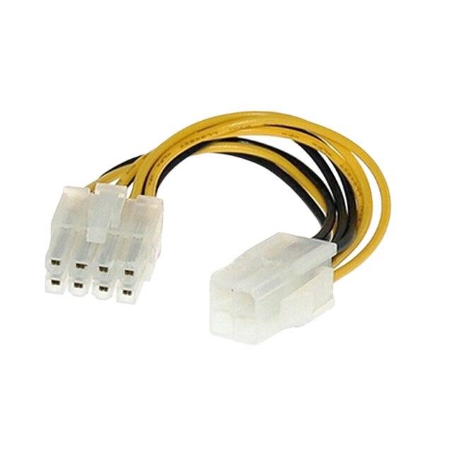 """Marsnaska Hot Koop 20 Cm 8 """"Inch 4 Pin Male Naar 8Pin Vrouwelijke Pc Cpu Voeding Verlengkabel cord Connector Adapter"""
