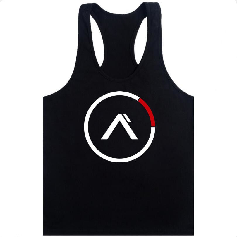 new 2018 Brand clothing Bodybuilding Fitness Men Tank Top workout Sleeveless print Vest Stringer sportswear Undershirt