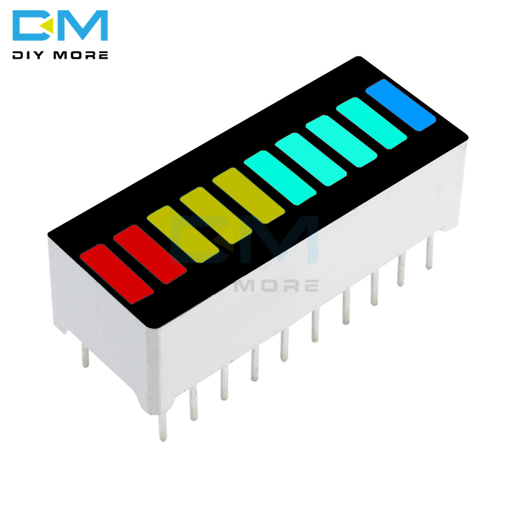 2PCS LED Display Module 10 Segment Bargraph Light Display Module Bar Graph Ultra Bright Red Yellow Green Blue Colors Multi-color