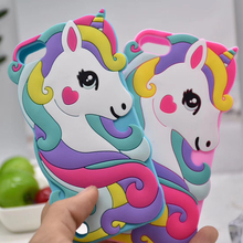 3D Cartoon Unicorn Silicon Case for Apple iPod Touch 6 Cases Beard Cat Ears stitch Minnie Mickey Phone Cover touch 5 touch6 for apple ipod touch 7 case vintage calf grain leather flip stand shockproof wallet cover for ipod touch 5 6 case card holder