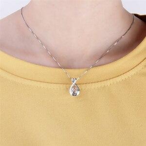 Image 5 - CLUCI 3 قطعة 925 فضة البيضاوي على شكل سحر قلادة الفضة 925 قلادة للنساء عيد الأم هدية مجوهرات SC354SB