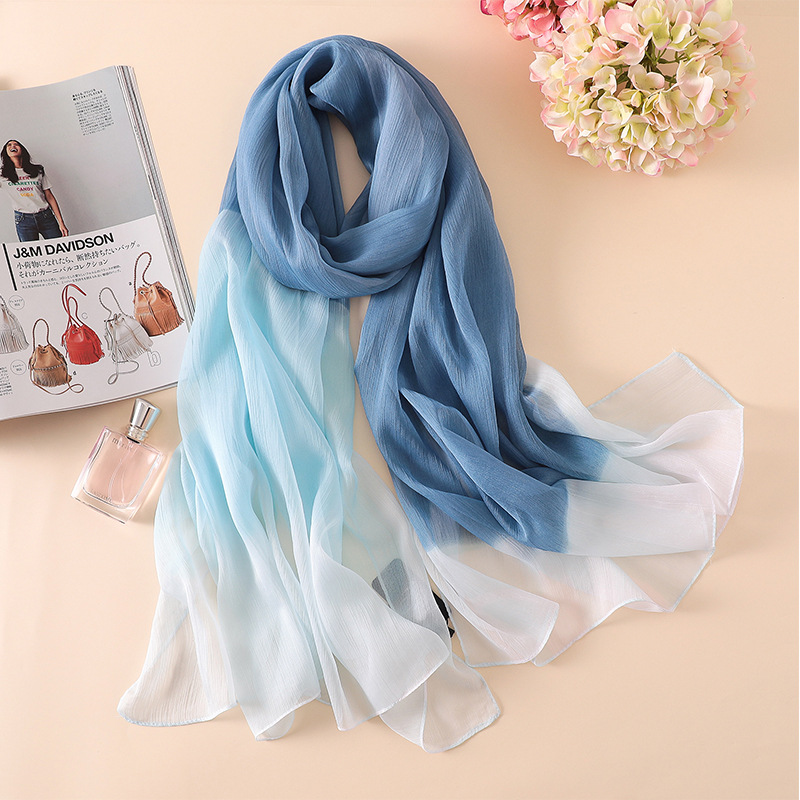 Fashion 2019 spring women   scarf   summer silk   scarves   patchwork soft large size lady shawl and   wraps   pashmina beach stoles