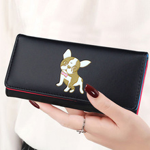 BOTUSI Lady Purses Lovely Dog Coin Purse Pockets Long Short Women Wallets Girls Money Bags Cards Holder Bag Notecase
