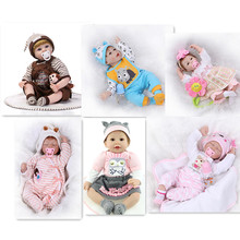 """Best Price 22"""" Reborn Baby Doll Clothes With Fashion Style Hot 55cm Silicone Reborn Bebe Doll Accessories For Kids To DIY Dolls"""