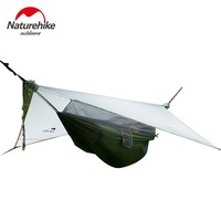 Naturehike 1 person Hammock With Awning Camping Hanging Tent Waterproof Hammock DZ15D001 L