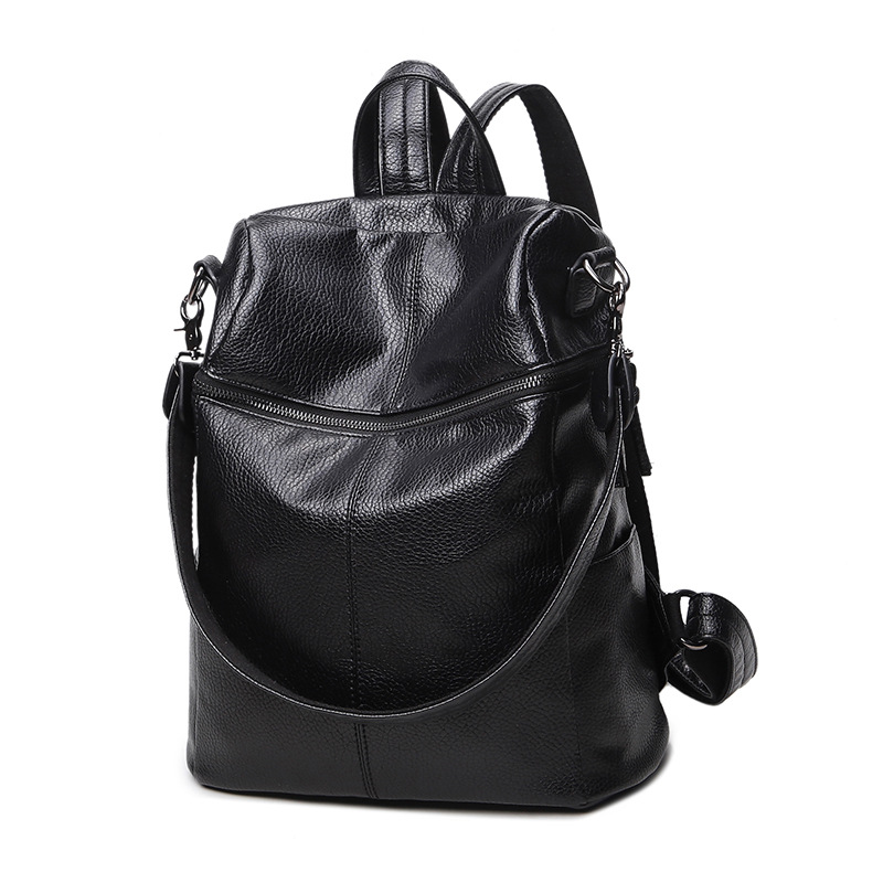 Fashion High Quality Pu Leather Backpack Women  Shoulder Bag Large-capacity Multi-purpose For Teenagers Girls Bucket Bag 2018