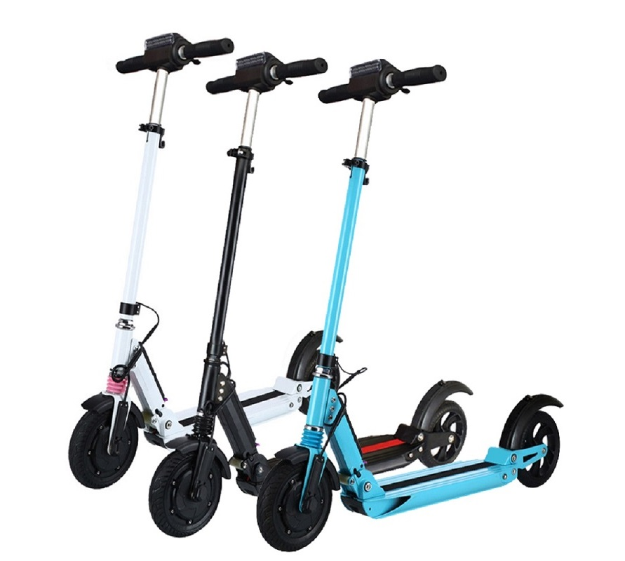 SUPERTEFF EW4 electric scooter LCD display 8 inch 350W electric bike smart two wheel skateboard scooter for adults folding