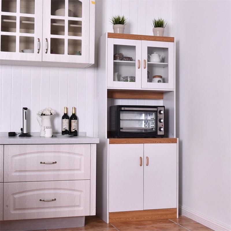 Stand Kitchen Storage Cabinet White