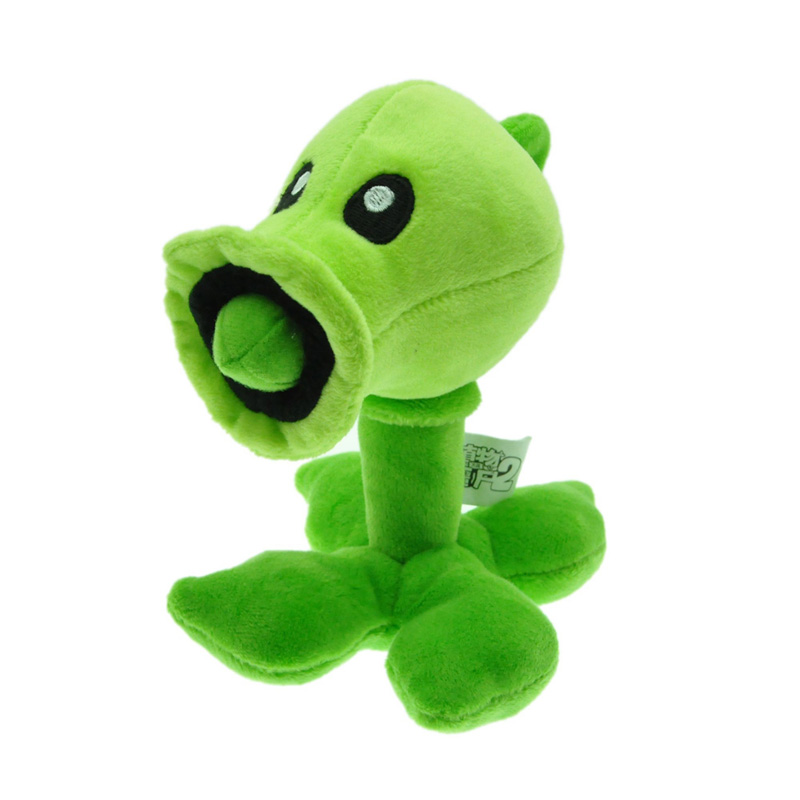 Kawaii 18cm Plants vs Zombies PVZ Pea Shooter Plush Toys Doll Soft Stuffed Toys Game Figure Statue Baby Toy for Kids Xmas Gifts yoda plush 1pc 922cm star wars figure plush toy aliens yoda soft stuffed plush doll toy kawaii toy for baby