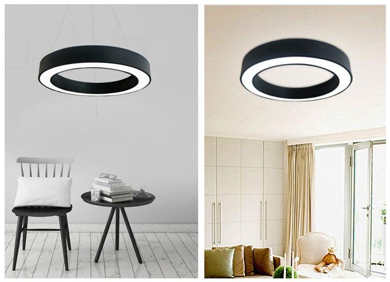 Модный железный подвесной светильник круглый металлический подвесной светильник ing morden светодиодный светильник подвесной светильник для гостиной спальни три размера - 2