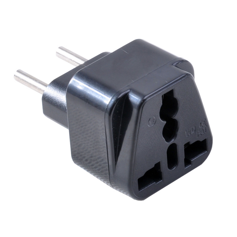 2 Pins Universal UK/US/EU/AU to EU Power Adapter High Quality Brasil Israel Europe Travel Power Plug Mayitr image