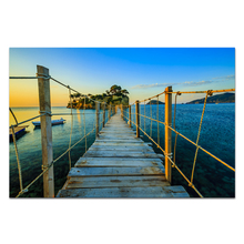 1 Panel HD Printed Nature Landscape Painting Bridge to Small Island Seascape Canvas Printing Wholesale Drop-shipping/SJMT1885(China)