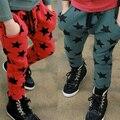 Crianças estrelas padrão calças bebê criança calças de algodão casuais Capri