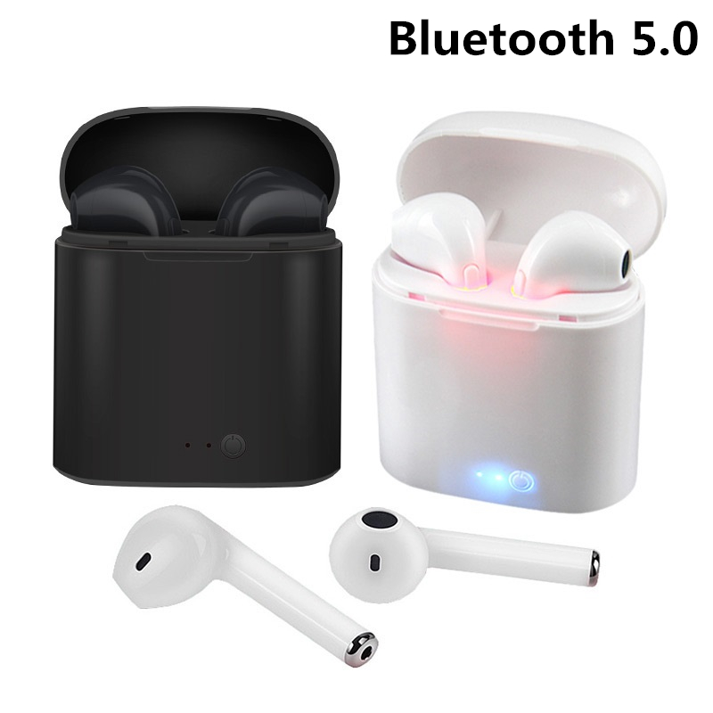 I7 I7s TWS Wireless Bluetooth 5.0 Earphone In-ear Earphone Earbuds Headset With Mic For Phone IPhone Xiaomi Samsung Huawei LG