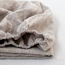 100% лен установлены простыни камень мыть чистый Лен 1 шт. для Твин Полный queen King Размеры