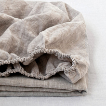 100% Linen Fitted Sheet Stone Washed Pure Linen 1Pcs For Twin Full Queen King Size