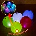 100 pçs/lote Rodada lâmpada LED balão Lanterna chinesa De Papel mini bola fontes do Partido casamento luz luz da Decoração de Natal