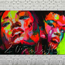 Palette knife portrait Face Oil painting Character figure canvas Hand painted Francoise Nielly wall Art picture 14