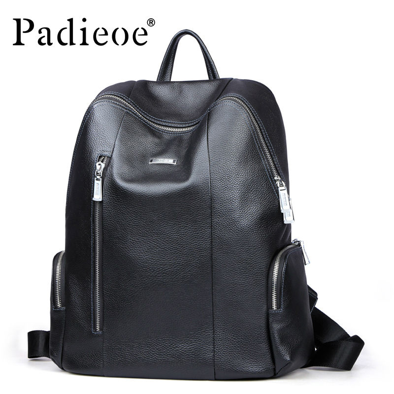 2017 new brand leather backpack bag leather casual shoulder bag European leather mens school school backpack computer bag2017 new brand leather backpack bag leather casual shoulder bag European leather mens school school backpack computer bag