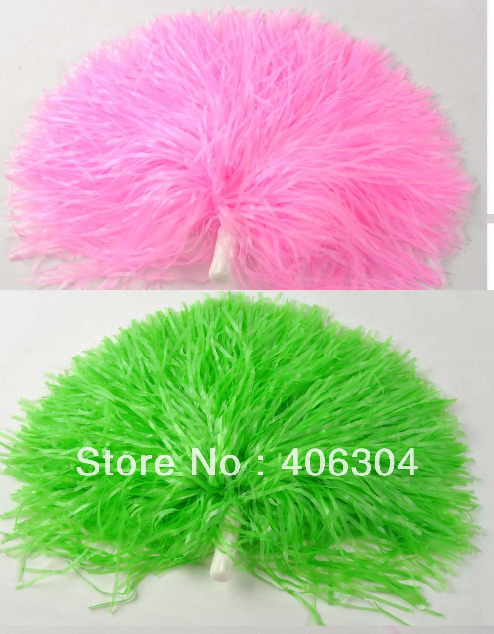 Free shipping,100g plastic PE cheerleading pompom pom pom red blue green,white black yellow ,purple and hot pink ballroom
