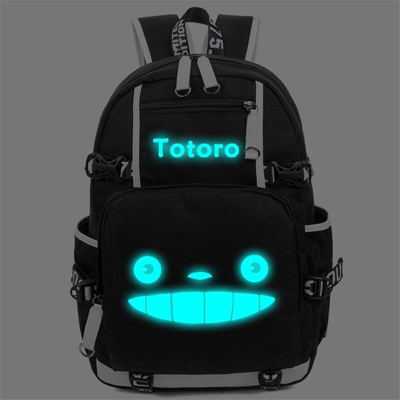 Anime Totoro School Bags Backpack My Neighbour Totoro Luminous Students Bookbag Laptop Schoolbags Rucksack Free Shipping