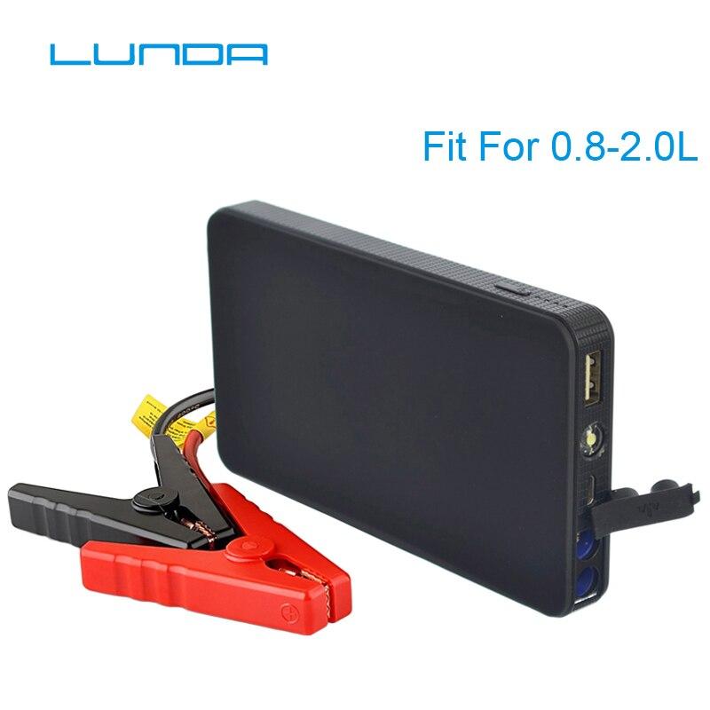 LUNDA K21 Mini Portable 12 v Batterie De Voiture Saut Démarreur Auto Jumper Moteur Puissance Banque de Départ Jusqu'à 2.0L Voiture banque de puissance de démarrage