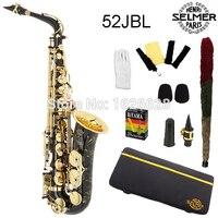 Ücretsiz nakliye Hakiki Fransa Selmer Baritonsaxophon Alto Saksafon Siyah 52JBL Profesyonel E Ağızlık Sax saxofone #14