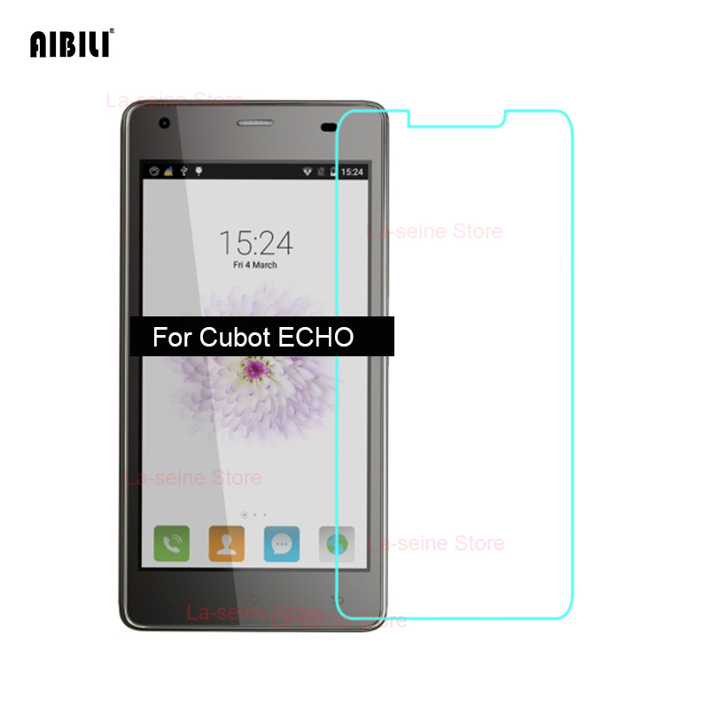 For CUBOT ECHO Tempered Glass Screen Protector 9H 2.5D 0.26mm Safety Protective Film On E C H O 5.7 Anti-explosion Ultra-thin