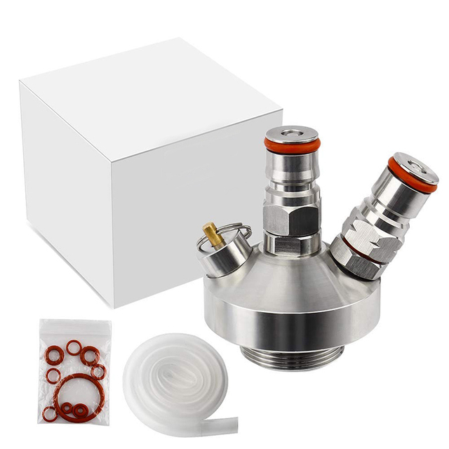 Stainless Steel Mini Keg Tap Dispenser with 12'' Beer Hose 6