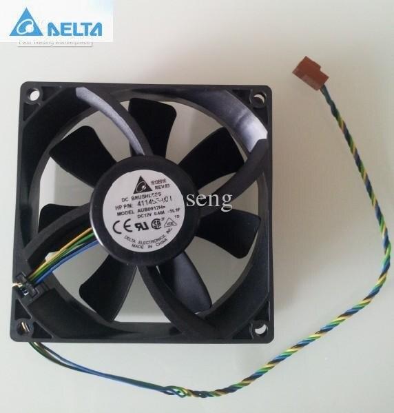 Delta AUB0912HH  PWM Cooling Fan 9225 92mm 90mm 411456-001 DC12V 0.40A Server cooler original delta afb0912shf 9032 9cm 12v 0 90a dual ball bearing cooling fan