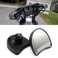 Neverland Motorcycle Rearview 10mm Fairing Mount Rear View Mirrors For Harley Street Electra Glide FLHX 1996 2013 D25