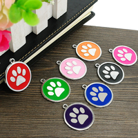 Wholesale 80pcs/lot Dog Id Tags For Cat Dog Personalized Pet Puppy Cat Tag Customized Collar Pendant Accessories 8 Colors