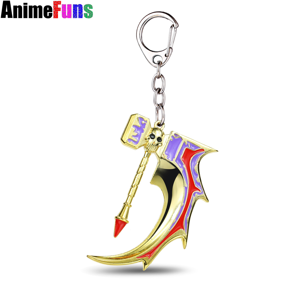 MS JEWELS Game Gifts Jewelry Dota 2 Cranium Basher Hammer Keychain Metal Key Rings Chaveiro Key Chain