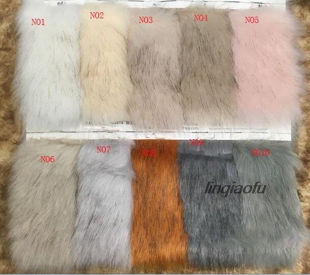 Gros tissu de fourrure de renard teint en fourrure de haute qualité en fausse fourrure col en peluche,: 170*90 cm (une cour) un pcs