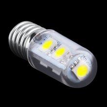 Mini E14 1W 7 LED 5050 SMD Nature/Warm White Light  For Sewing Machine Refrigerator Lamp 110V/220V  LED Bulb