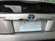 Автоматическая задняя дверь отделка, хвост отделка багажника для toyota prius 2016, авто хромированные аксессуары