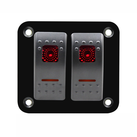 shgo 12v 24v 2 gang red rocker switch painel de disjuntor marine boat a prova