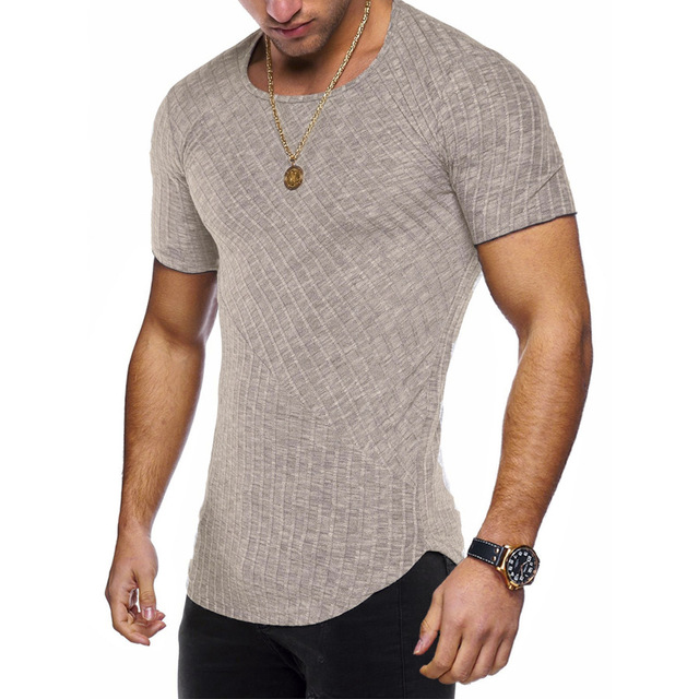 Round Neck Fitted T Shirt 8