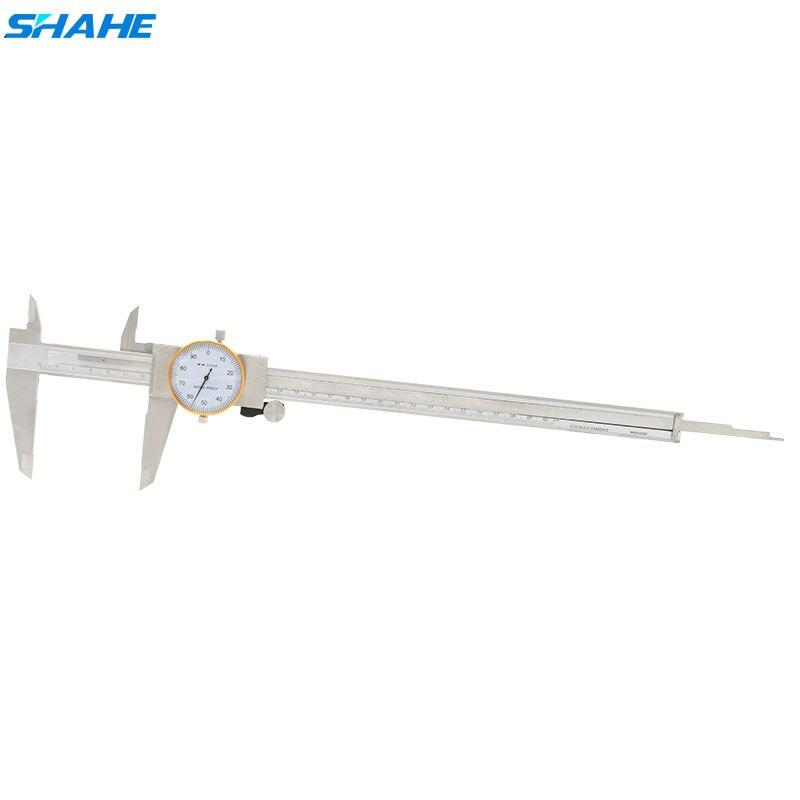SHAHE 0-300mm 0.01mm Choc preuve acier inoxydable Étrier Précision Vernier Étrier Résolution 0.01mm