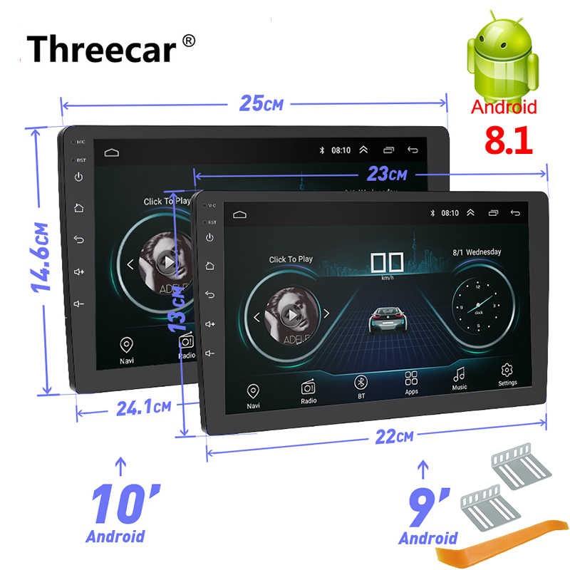 "Newest 2 Din Android Car Radio GPS Navigation 9"" 10"" 2din Universal Car Stereo Audio Bluetooth Wifi USB No DVD Autoradio MP5"