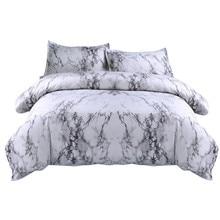 بسيطة الرخام غطاء لحاف مجموعة غطاء لحاف التوأم الملك الحجم مع كيس وسادة سرير فاخر غطاء المفرش مزدوجة لينة