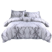 Juego de funda de edredón de cama sencilla de mármol, cubierta de edredón doble de tamaño King con funda de almohada, funda de cama de lujo, edredón doble suave