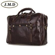 7201C J.M.D New Arrival Vintage Leather Men's Coffee Messenger Bag Handbag Briefcases